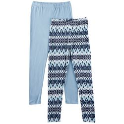 Star Ride Big Girls 2-pk. Chevron & Solid Leggings