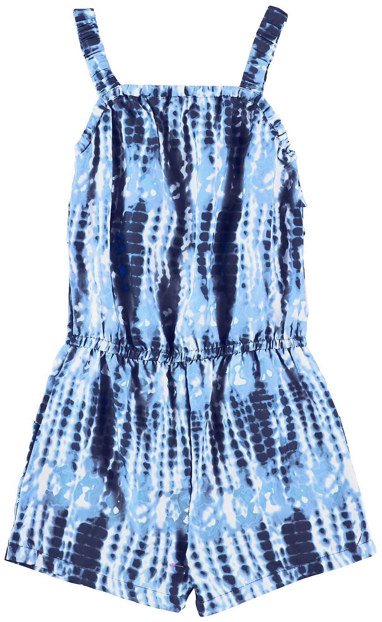 08d7c77c411 Wallflower Big Girls Tie Dye Ruffle Sleeveless Romper