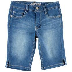 Wallflower Big Girls Bermuda Denim Shorts