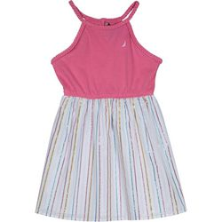 Nautica Big Girls Striped Sleeveless Dress
