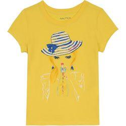 Nautica Big Girls Lemonade Short Sleeve T-Shirt