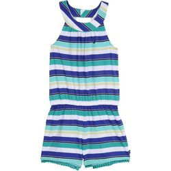 Nautica Big Girls Horizontal Stripe Romper