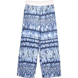 Amy Byer Big Girls Tie Dye Cropped Wide Leg Pants
