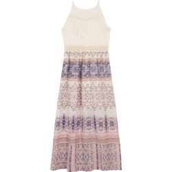 Amy Byer Big Girls Boho Lace Sleeveless Dress