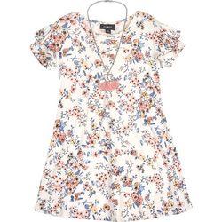 Amy Byer Big Girls Floral Print Flutter Sleeve Dress