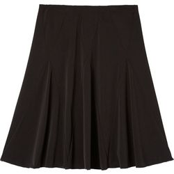 Amy Byer Big Girls Solid Godet Knee Length Skirt