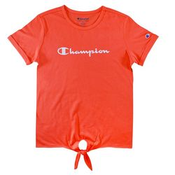 Champion Big Girls Script Tie Front T-Shirt