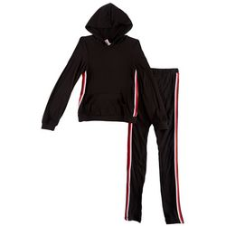 1st Kiss Big Girls Sports Stripe Hoodie Pants Set