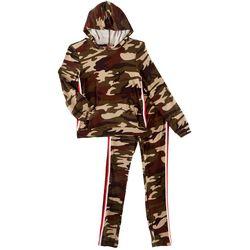 1st Kiss Big Girls Camouflage Hoodie Pants Set