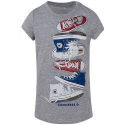 Converse Big Girls Falling Sneaker T-Shirt