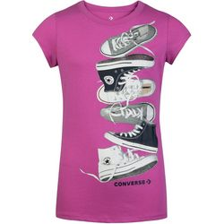 Converse Big Girls Falling Sneaker T-Shirt