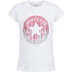 Converse Little Girls Sequin Logo T-Shirt
