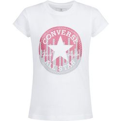 Converse Little Girls Sequin Logo T-Shirt