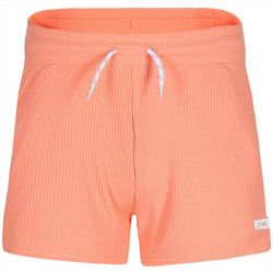 Converse Little Girls Solid Ribbed Shorts