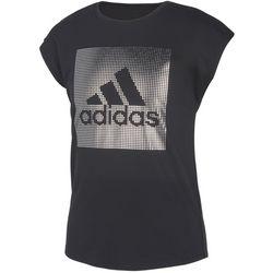 Adidas Big Girls Metallic Logo T-Shirt