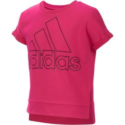 Adidas Big Girls Split Seam Logo T-Shirt