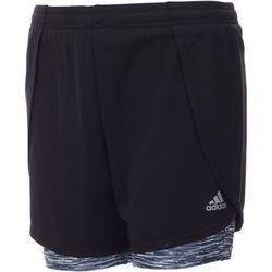 Adidas Big Girls Space Dye Marathon Shorts