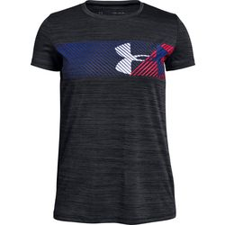 Under Armour Big Girls Hybrid Wave Big Logo T-Shirt