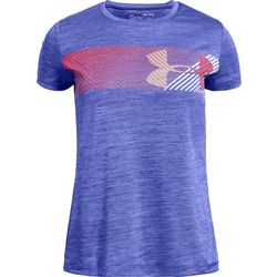Under Armour Big Girls Hybrid Wave Logo T-Shirt