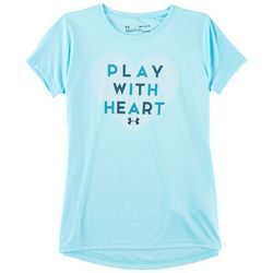 Under Armour Big Girls UA Play With Heart T-Shirt