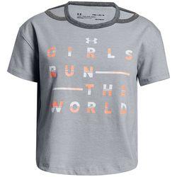 Under Armour Big Girls Girls Run The World T-Shirt