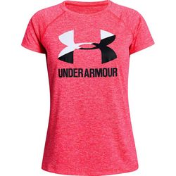Under Armour Big Girls UA Big Logo Twist T-Shirt