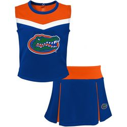 Florida Gators Big Girls Spirit Cheer Skirt Set