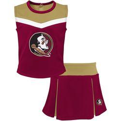 Florida State Little Girls Spirit Cheer Skirt Set