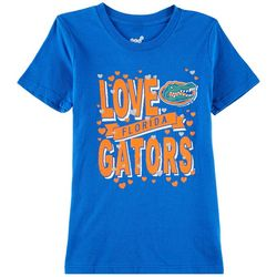 Florida Gators Big Girls Hearts and Banner T-Shirt