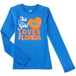 Florida Gators Big Girls This Girl Loves Florida T-Shirt