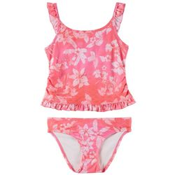 Reel Legends Big Girls Maui Mermaid Floral Tankini Swimsuit