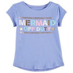 Reel Legends Little Girls Mermaid Off Duty Crew T-Shirt