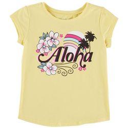Reel Legends Little Girls Aloha Hibiscus T-Shirt