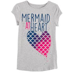 Reel Legends Big Girls Mermaid At Heart Heather T-Shirt