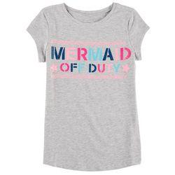 Reel Legends Big Girls Mermaid Off Duty Heather T-Shirt