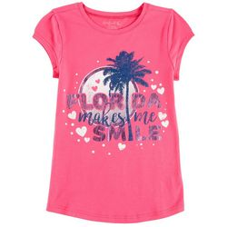 Reel Legends Big Girls Florida Makes Me Smile T-Shirt