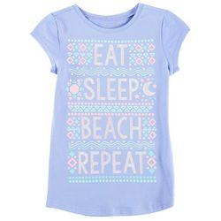 Reel Legends Big Girls Eat, Sleep, Beach, Repeat T-Shirt