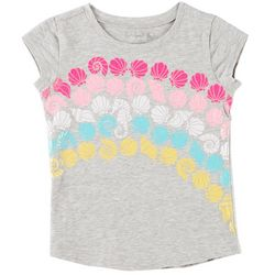 Reel Legends Big Girls Shell Rainbow T-Shirt