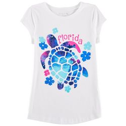 Reel Legends Big Girls Florida Turtle T-Shirt
