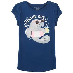 Reel Legends Big Girls Chillin' Out Manatee T-Shirt