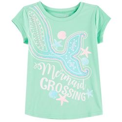 Reel Legends Little Girls Mermaid Crossing T-Shirt