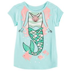 Reel Legends Little Girls Mermaid and Friends T-Shirt