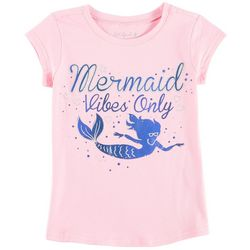 Reel Legends Little Girls Mermaid Vibes Only T-Shirt