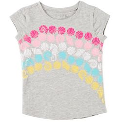 Reel Legends Little Girls Shell Rainbow T-Shirt