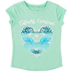 Reel Legends Little Girls Cuteness Overload Seahorse T-Shirt
