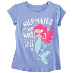 Reel Legends Little Girls Mermaids Make Me Happy T-Shirt
