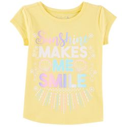 Reel Legends Little Girls Sunshine Makes Me Smile T-Shirt