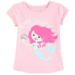 Reel Legends Little Girls Mermaid Shellfie T-Shirt