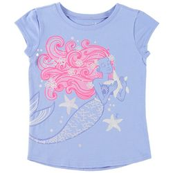 Reel Legends Little Girls Mermaid & Starfish T-Shirt