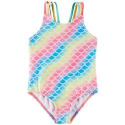 Reel Legends Little Girls Rainbow Swimsuit